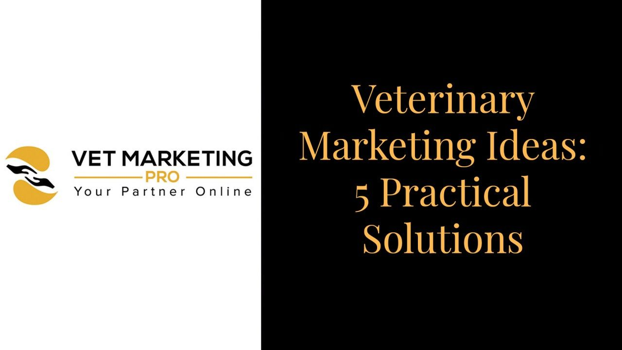 Veterinary Marketing Ideas:  5 Practical Solutions
